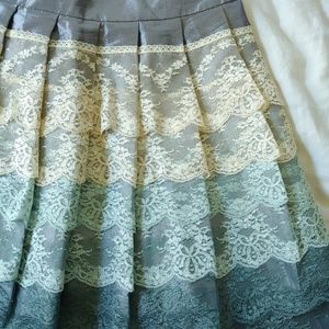 Lace ombre skirt
